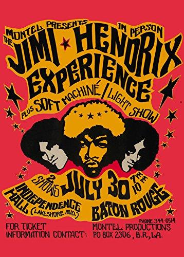 Poster vintage di Jimi Hendrix Experience & Machine, formato A3, carta lucida 250 gmq