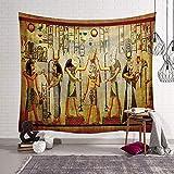 Morbuy Arazzo da Parete Grande Antico Egitto, Hippie Poliestere Stampa Home Decor tappeti da Parete Casual Picnic Telo Mare