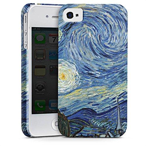 Apple iPhone X Silikon Hülle Case Schutzhülle Vincent van Gogh The Starry Night Kunst Premium Case glänzend