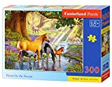 Castorland B-030286 Horses by The Stream, Puzzle 300 Teile