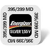 ENERGIZER 395-399 SR927SW/SR927W Lot de 10 piles boutons sans mercure à l'oxyde d'argent pour montre