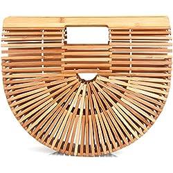 WT Bamboo Bag - Bolso al hombro para mujer Beige bambú Talla única