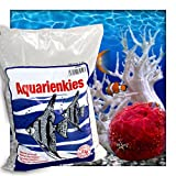 Kieskönig Aquariensand Aquariumsand Bodengrund 2-4 mm Aquarienkies hochrein Naturweiss 5 kg (1 x 5 kg Sack)