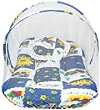 #8: Chhote Saheb Cotton Bedding Set with Foldable Mattress Mosquito Net & Pillow Navy Blue