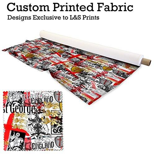 England St.George Design Digitaldruck 220 Gramm Satin Polyester bedruckten Stoff 56