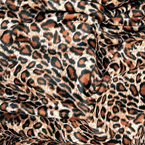 Einfach Kostüm Leopard - TOLKO Kurzhaar Kunstfell als Meterware - tolle Tierfell-Imitat Stoffe (Leopard)