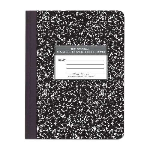 Preisvergleich Produktbild Marble Cover Wide Rule Composition Book, 9-3/4 x 7-1/2, 100 Pages