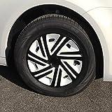 (Größe & Design wählbar) 14 Zoll Radkappen Cyrkon Weiß-Schwarz passend für fast alle Fahrzeugtypen (universal)