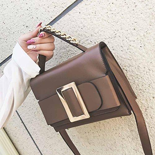 Huihong Damen PU-Leder Elegante Kuriertaschen Slim Crossbody MäDchen Mode Schulter Taschen Handtasche Kleinen KöRper Taschen Khaki