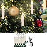 20er Set LED Weihnachtsbaumkerzen mit Fernbedienung – warm weiß - 2