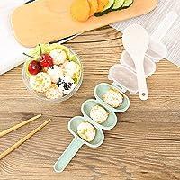Wokee - Juego de utensilios de cocina para hacer bolas de arroz, cuchara de arroz