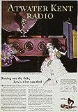 Atwater Kent Radio AD 1926. /Namerican Magazine Advertisement for The Atwater Kent Radio 1926. Kunstdruck (60,96 x 91,44 cm)