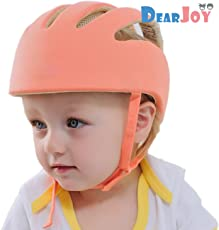 DearJoy Baby Safety Helmet with Corner Guard & Proper Ventilation (Orange)