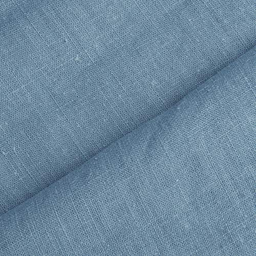 www.aktivstoffe.de Holmar - Leinen Stoff Meterware - 100% Leinen - vorgewaschen (schwedenblau) -