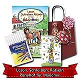 Geburtstagsgeschenk für Mädchen ab 5 - Lesen, Schreiben, Rätseln mit der Bildermaus PONYHOF
