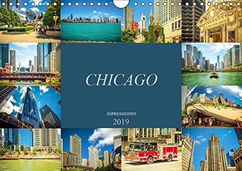 Chicago Impressionen (Wandkalender 2019 DIN A4 quer): Beeindruckende, faszinierende Impressionen von Chicago (Monatskalender, 14 Seiten ) (CALVENDO Orte) (Chicago Trump Tower Illinois)