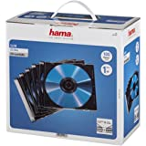 Hama 00051270 Pochettes CD Pochette de protection (pack de 100, Slim line, hauteur : 5 mm) Pochettes CD transparentes noires