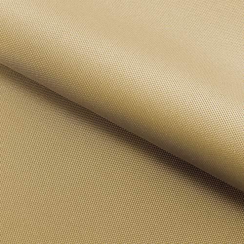 NOVELY® Oxford 210D 34 Beige Dunkel | Fest Gewebtes Polyester Stoff wasserabweisend robust | anschmiegsam und nachgiebig | Meterware Segeltuch Beige Oxford
