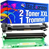 PlatinumSerie® 2 Toner & Drum XXL kompatibel zu Brother DR-1050 TN-1050 HL-1112 Series MFC-1810 MFC-1815 MFC-1910W MFC-1911NW