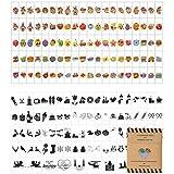 Symbole für Lightbox - 200 kreative Emojis Sticker als Ergänzungsset mit bunte & schwarze lustige...