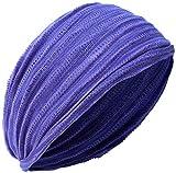 Banda para la cabeza Little Kathmandu, doble largo, elástica, varios colores Morado Purple Tie Dye Talla única