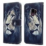 d1c624b242a Tophung Funda Tipo Cartera para Samsung Galaxy S9, de Piel sintética Suave,  con función Atril, Tarjetero y Ranura para identificación, con Tapa, ...