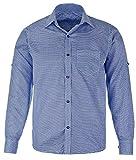 Herren-Trachtenhemd, Oberhemd, blau/weiß kariert, langarm, Hemd Oktoberfest, Gr. XXL