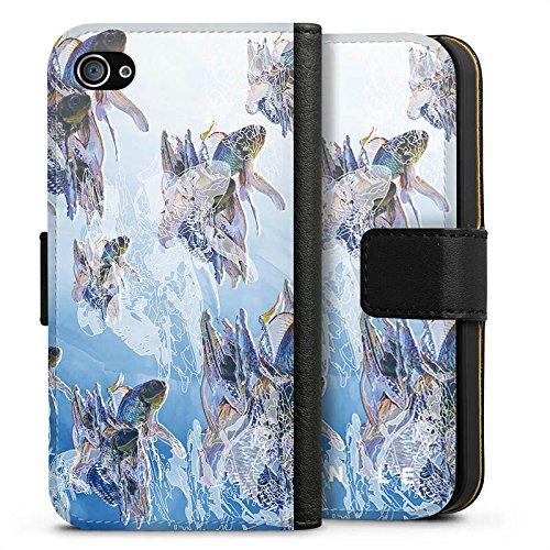 Apple iPhone X Silikon Hülle Case Schutzhülle HIEN LE Goldfisch Fische Sideflip Tasche schwarz