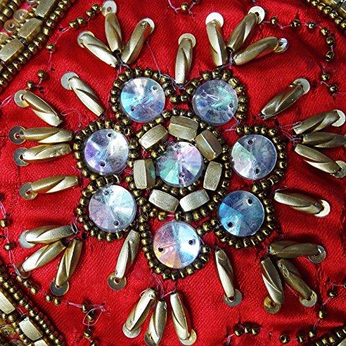 Indian Donne Cerimonia Nuziale Del Partito Borsa Ricamata Borsa Da Sposa Della Frizione Sera Indiano Rosso e oro