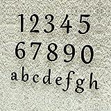 Colours-Manufaktur Hausnummer Klassisch 0-9 und a-h *Made in Germany* Viele Verschiedene Farben und Größen wählbar (15 cm, RAL 9005 Tiefschwarz [Schwarz] glänzend)