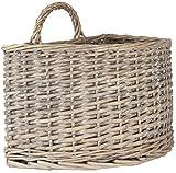 Ib Laursen 2970Willow Wall Basket Semi-Circle 20x 18x 30cm natural