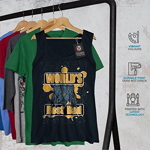 Meilleur slogan du monde des papas Femme S-2XL Débardeur | Wellcoda Bleu