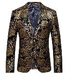 Ouye 2 Bouton Premium Blazer Doré Veste de Costume Homme