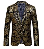 OUYE Herren Anzugjacke 2 Button Premium Sakko Blazer Large