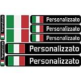 Haberdashery Online Bandiera Adesivi con Nome Personalizzato per Biciclette, Moto, Auto e Scooter elettrici. 9 Etichette…