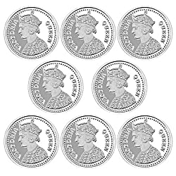 Pure Silver Coin 999 fineness Lot of 8 pcs of 20 gram each