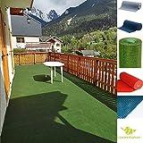 Rasenteppich Kunstrasen mit Noppen, Größe Auswählen | Außen Teppich | Für Garten, Terrasse, Balkon etc… | MadeInNature® (080 x 200 cm, Grün)