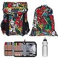 4 T SET LEGO Easy Schulranzen + Sportbeutel + Federmäppchen gefüllt + Trinkflasche