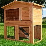 Zooprimus Kaninchenstall 62 Hasenkäfig - MUCKY - Stall für Außenbereich (für Kleintiere: Hasen, Kaninchen, Meerschweinchen usw.)