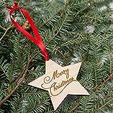 Pentagon Weihnachtsbaumschmuck aus Holz klein Anhänger Perfekte Dekoration für die Werkzeugleiste für Weihnachtsbaum Dekoration des Hauses