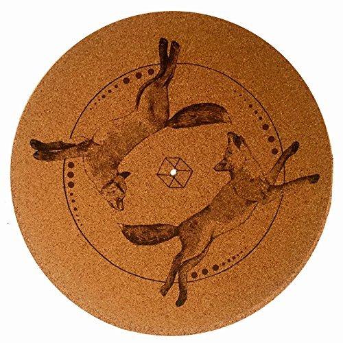 Taz studio: sughero per giradischi Psychedelic Geometric Fox