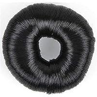 Solida Nodo Anello con capelli sintetici 7,8 cm scuro ideale per capelli fini