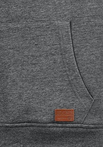 BLEND Ted Herren Sweatjacke Kapuzen-Jacke Zip-Hoodie mit Teddy-Futter aus hochwertiger Baumwollmischung, Größe:M, Farbe:Pewter Mix (70817) - 5