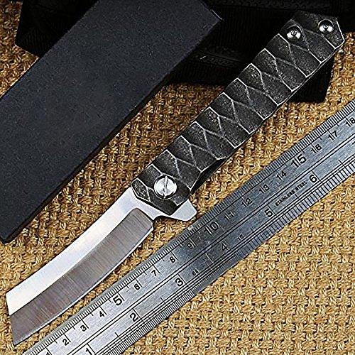 Ideaselection Outdoor Taschenmesser Wandern Klappmesser jagdmesser Camping Survival Messer Rettungsmesser Stahl Klinge Griff Einhandmesser Erwachsene EDC Werkzeuge Pocket Knife