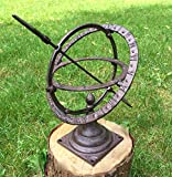 Antikas - reloj de sol pequeño decoración jardín estilo antiguo de hierro fundido - reloj estatua...