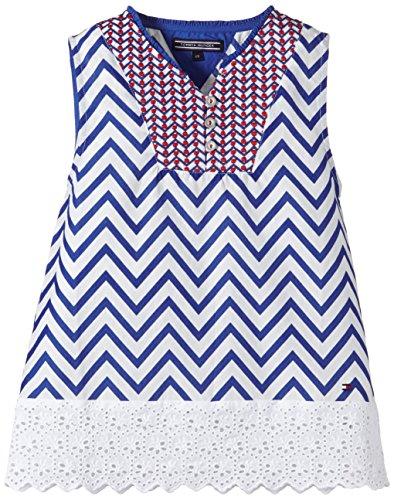 Tommy Hilfiger - Lola Stripe Top Slvls, T-shirt per bambine e ragazze, blu(blau (monaco blue-pt 430)), taglia produttore: 14