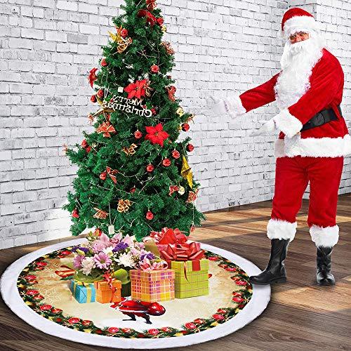 Surfmalleu Falda de árbol de Navidad de Terciopelo 1,2M Falda de ...