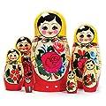 Matroschka, Matruschka, Matrjoschka, Babuschka 7-tlg. als Dekoration oder zum Verschenken