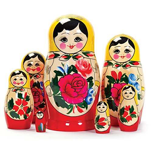 Tobar Russian Matryoshka Nesting Dolls (7 Pieces) Design/Color May Vary.