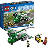 CITY Lego Year 2016 City Series Set #60101 - AIRPORT CARGO PLANE With Airport Service Car Pilot And Airport Worker Minifigure